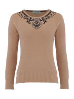 Dickins & Jones Beige Embellished Knitted Wool Mix Jumper S M L XL RRP £85  NEW