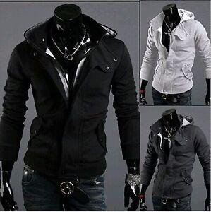 New-Mens-Winter-Slim-Hoodie-Warm-Hooded-Sweatshirt-Coat-Jacket-Outwear-Sweater