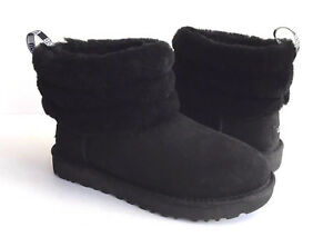 280b287a9e4 Details about UGG CLASSIC MINI FLUFF QUILTED BLACK BOOT US 11 / EU 42 / UK  9 NIB