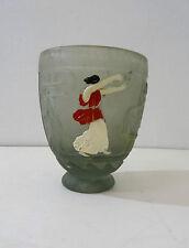 Georges de Feure - Vase en pâte de verre décor à l'antique