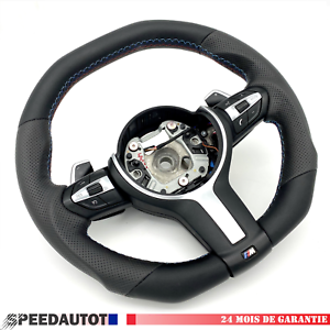 Volant  Aplati BMW Noir F30 F45 F32 F20 X1 X3 X5 X6 M SMG Echange standard-*