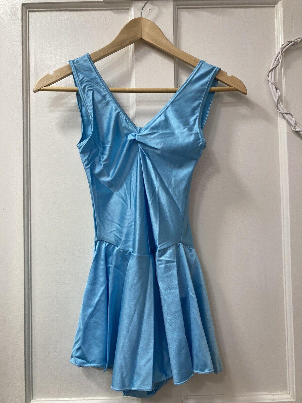 Adiago Skirted Leotard Nylon Light Blue Dance / Josephine Size 4 Joblot