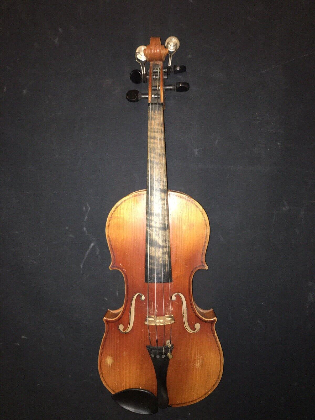 Vintage   Near Antique Pre-War Stradivarius Copy Rich Tone Violin
