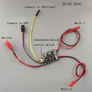 Dual-Way-Bidirectional-Brushed-Esc-2s-3s-Lipo-5a-Esc-Speed-Control-For-Rc-Moy3