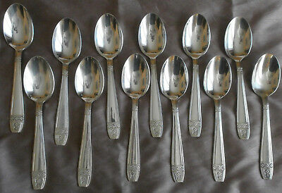 6 à 12 cuillères à soupe métal argenté vintage style art déco modèle Grand Prix