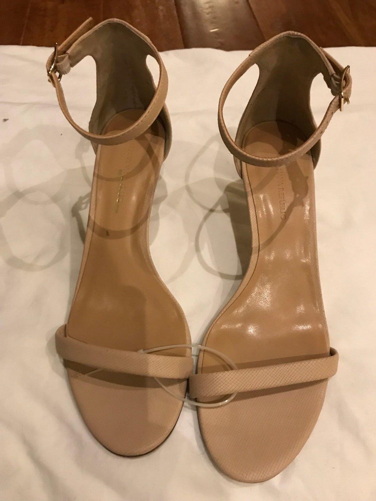Banana Republic Bare Kitten Heel Sandale, Beige Leder SIZE #590158 7.5 M   #590158 SIZE E101 5e4136