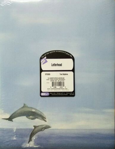 Two Dolphins by GreatPapers Designer Paper 100 sheets per pack NEW
