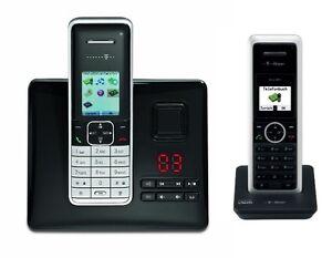 t sinus a503i duo isdn telefon set mit anrufbeantworter 2 mobilteile schnurloses ebay. Black Bedroom Furniture Sets. Home Design Ideas
