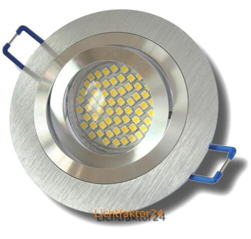 7W Gu10 Einbauspot Sets mit SMD Lampe Gu10 110° Abstrahlwinkel 230V Energieeff.A
