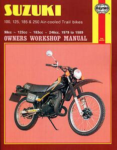 Haynes-Manual-0797-Suzuki-100-125-185-amp-250-Air-cooled-Trail-bikes-79-89