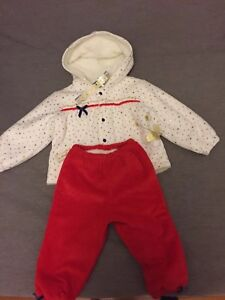 473ed650e1fa NWT Baby Girl Warm Jacket And Pants Snowsuit 9-12 Month