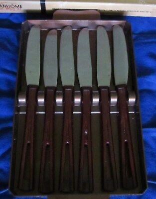 Pratico 1950 Stanley Deluxe Coltelli Per Bistecca ~ Set Di 6 ~ In Plastica Vassoio ~