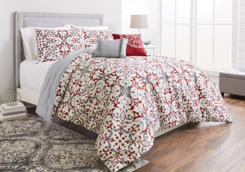 Better Homes & Gardens Full or Queen Scroll Red Comforter Set, 5 Piece