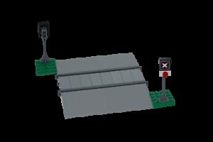 RC Eisenbahn TRAIN 60098 Bahnübergang LEVEL CROSSING Lego 9V