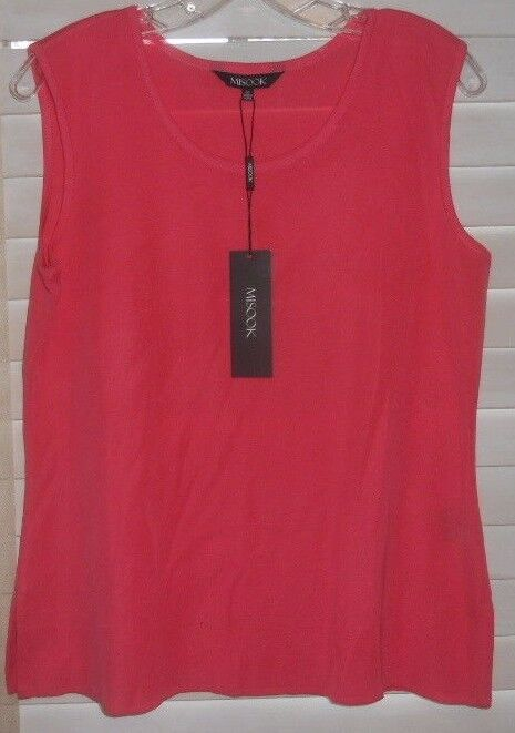 NWT Misook  Art to Wear  Corally Pink Tank  M