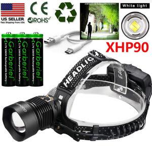 990000LM-XHP90-LED-Headlamp-Zoom-USB-Rechargeable-18650-Headlight-Powerful-Light