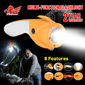 USB Rechargeable Outdoor Emergency LED Flashlight Multifunction Camping Lamp USA