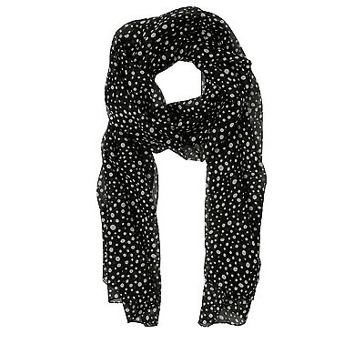 NEW Basque Spot Print Scarf Blk/White