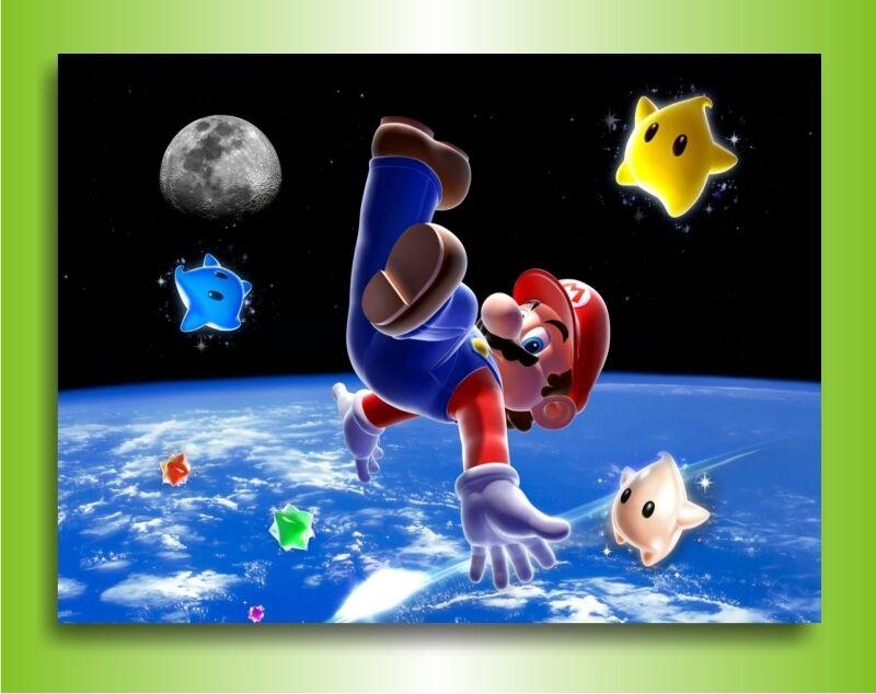 Leinwandbild  Super Mario  Bild auf Leinwand Leinwand Leinwand Wandbild Gemälde  Bilder Poster 295fd3