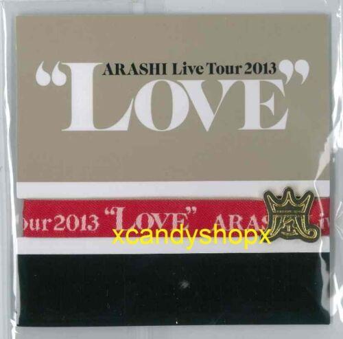 Japan ARASHI Live Tour 2013 LOVE official limited venue-specific ribbon bracelet
