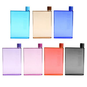 420-350ML-Portable-Stylish-Notebook-Water-Bottle-Travel-Plastic-Cup-Drinkware