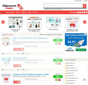 Professional Discount Coupons Website For Sale Free Hosting Ssl Ebay