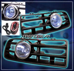 Details About 1999 2004 Vw Golf Mk4 Gl Gti Gls Per Blue Lens Fog Lights Lamp Grille Harness