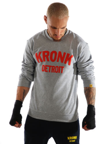 KRONK Detroit Sweatshirt Sport Grey with Red print