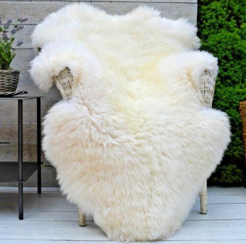 Genuine Ivoire véritable peau de mouton Tapis Luxe British lancer Eco Pelt Large 95cm+