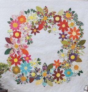 Flowering-Wreath-beautiful-applique-quilt-PATTERN-Free-Bird-Designs