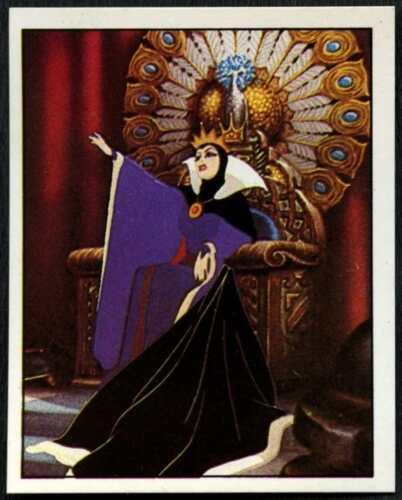 Queen #23 Snow White And The Seven Dwarfs 1987 Panini Disney Sticker C1390