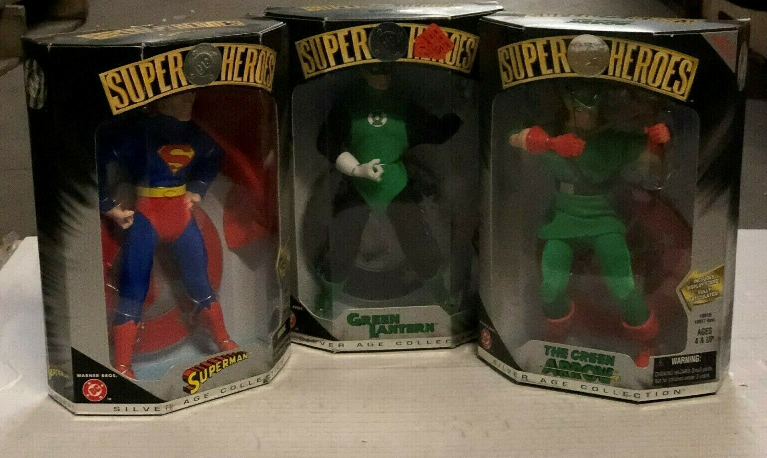 Lot Of 3x DC COMICS SUPER HEROES argento AGE SUPERuomo verde Lantern Arrow 1999