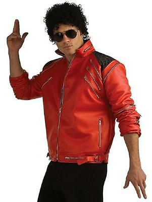 Michael Jackson Beat It Jacket Red Fancy Dress Halloween Deluxe Adult Costume