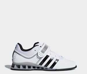 Adidas AdiPower Weightlifting Weight Powerlift Trainer shoes White M25733 SZ 15