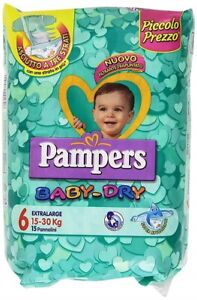 Couches bébé Pampers Baby Dry Extralarge taille 6 (11-25 kg) Forfaits au choix