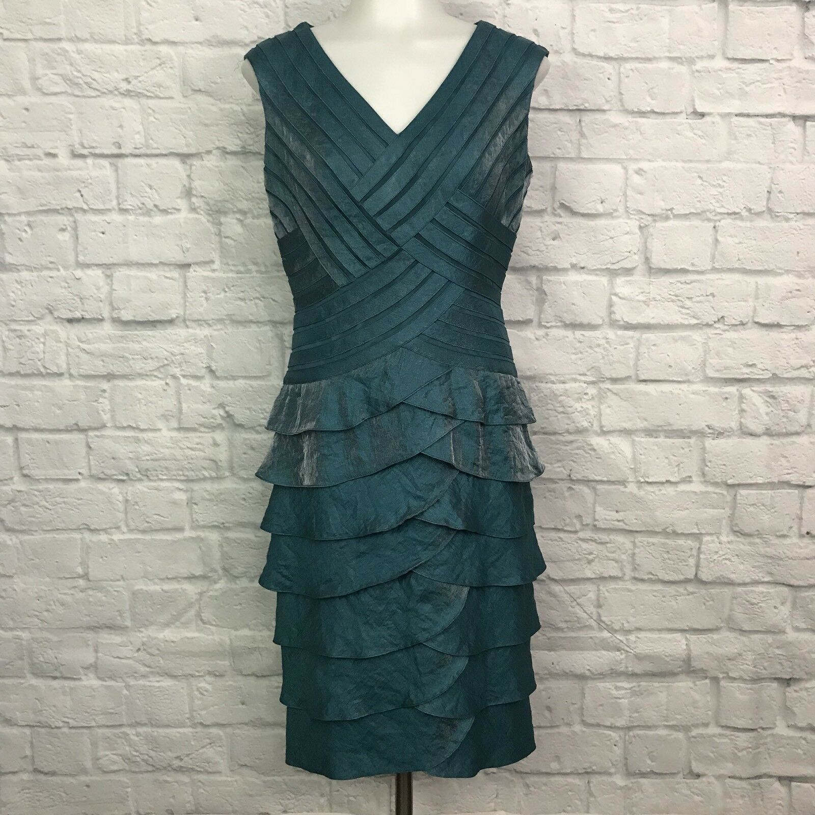 Adrianna Papell Women's Size 4 Sheath Dress bluee Sleeveless