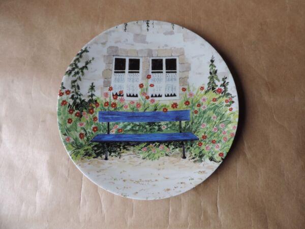 Antico Piatto Limoges R Francia Decorazione Giardino Fiori Carattere Aromatico E Gusto Gradevole