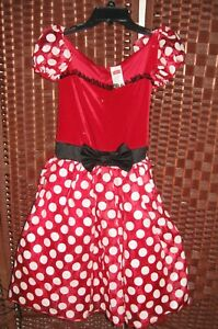 Disney-Minnie-Mouse-dress-S-womens-4-6-adult-costume-tulle-sparkle