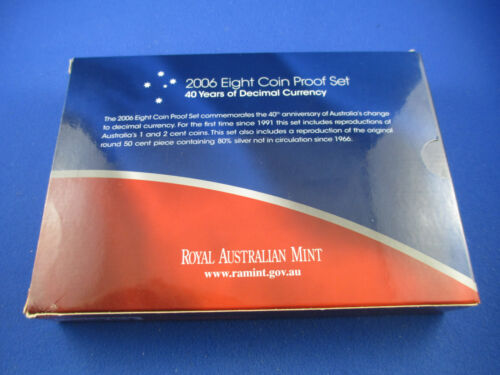 2006 Australia Eight Coin Proof Set RAM 40 Years of Decimal Currency