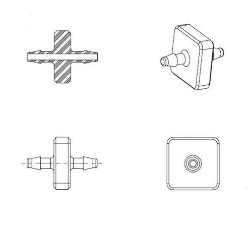"2pc Plastic Barb Hose Splicer Mender 1//2/"" Fitting Union MettleAir 129P-8"