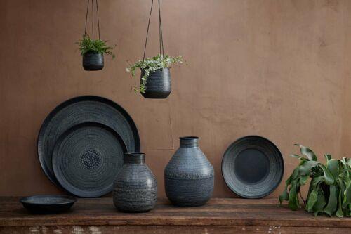 BLACK metal appeso fioriera Indoor Vaso titolare quadrato modello Nkuku mahika