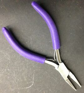 FLAT & SHALLOW HALF ROUND Jaw Pliers Bend Forming WIRE Wrapping ...