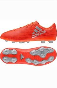new arrival 0f941 1931d Details about Adidas X 16.4 FxG Junior Soccer Cleats Shoes Orange Youth and  Kids SZ 5.5