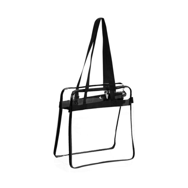 Clear PVC Tote Bag Crystal Transparent Waterproof Shoulder Beach Makeup Handbag