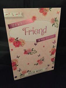 Image Is Loading Friends Birthday Card Happy Wonderful Friend Cards