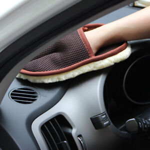 Super-Soft-Lambswool-Car-Auto-Motorcycle-Wash-Washing-Clean-Polishing-Mitt-Glove