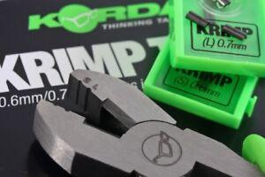 KORDA-NEW-Krimping-Crimp-Tool-or-Spare-Krimps-0-6mm-0-7mm-Carp-Fishing