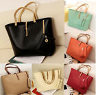 Korean Women PU Leather Tote Ladies Shoulder Messenger Bag Handbag Satchel TOP