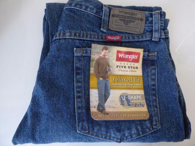 055b9795 Mens Wrangler Five Star Relaxed Fit 46 X 29 Denim Jeans | eBay