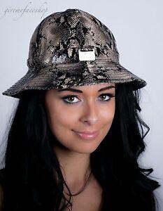 Image is loading Mens-ladies-bucket-hats-urban-snakeskin-fitted-premium- f3621d780ca